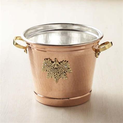 ruffoni historia hammered copper  wine bucket williams sonoma