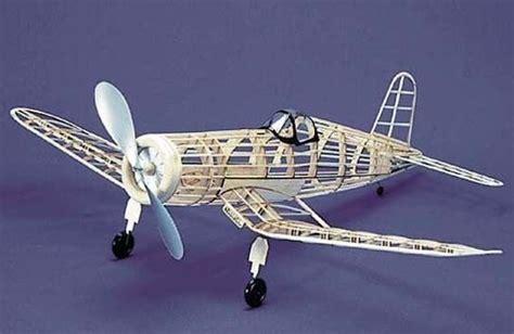 fu  corsair  herr balsa wood model airplane kit rubber powered ebay