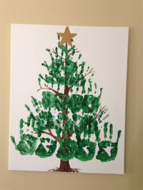 handprint christmas tree things i ve done pinterest