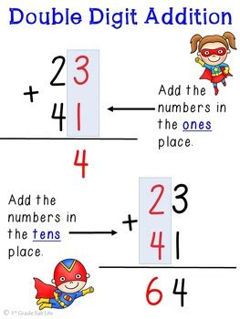 double digit addition  regrouping practice  st