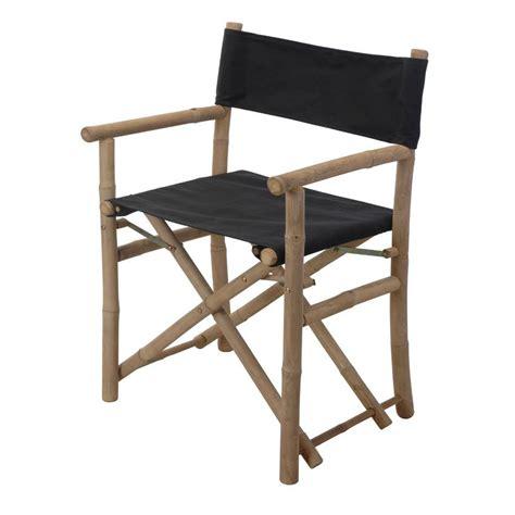 lot de chaise de jardin lot de 2 fauteuils de jardin régisseur bambou noir