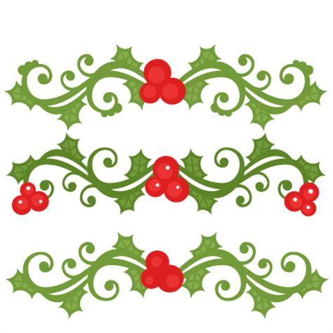 christmas flourish set scrapbook cut file cute clipart