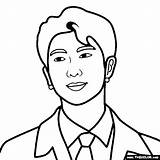 Bts Coloring Rm Pages Nam Joon Kim sketch template