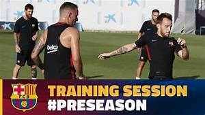FC Barcelona training session: Evening workout at Ciutat ...