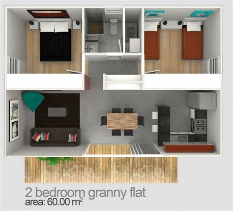 1 Bedroom Flat Map by Two Bedroom Flat Designs Plans Flats
