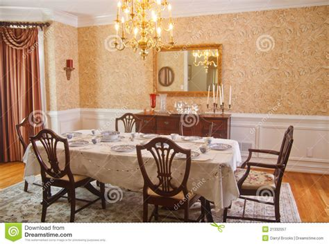 traditional dining room royalty  stock photography
