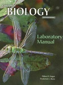 Concepts In Biology Laboratory Manual By Eldon D  Enger