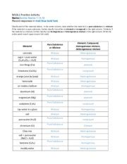 chemistry classifying matter worksheet key breadandhearth pakturkmaths
