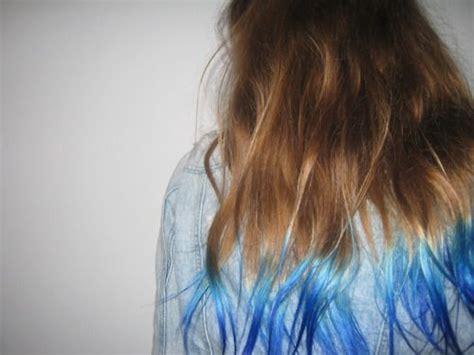 Blue Hair Tips Tumblr Source Next