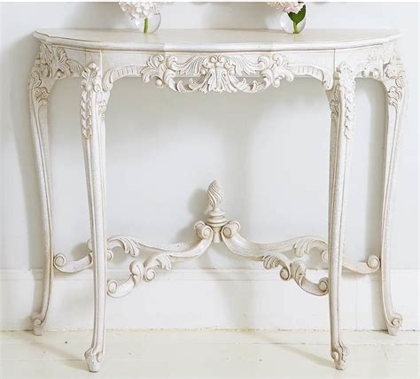 provencal white console table french style console tables