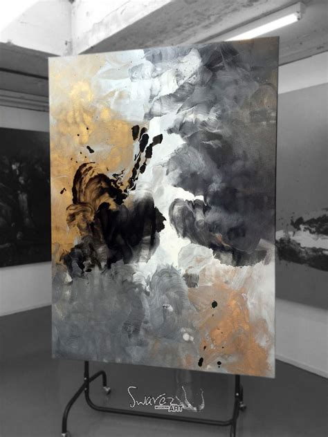 Abstract Black Gold Painting by Black And Gold Aces High Abstract Painting By Swarez