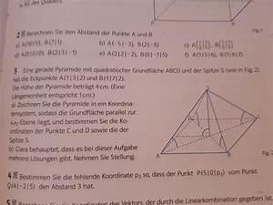 Fehlende Koordinaten Berechnen Vektoren : pyramide fehlende koordinaten der eckpunkte der pyramide mit quadratischer grundfl che ~ Themetempest.com Abrechnung