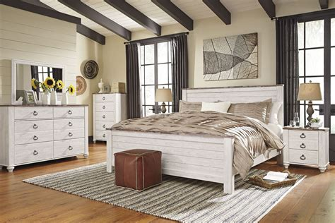 Bedroom Set By by Willowton Whitewash Panel Bedroom Set From