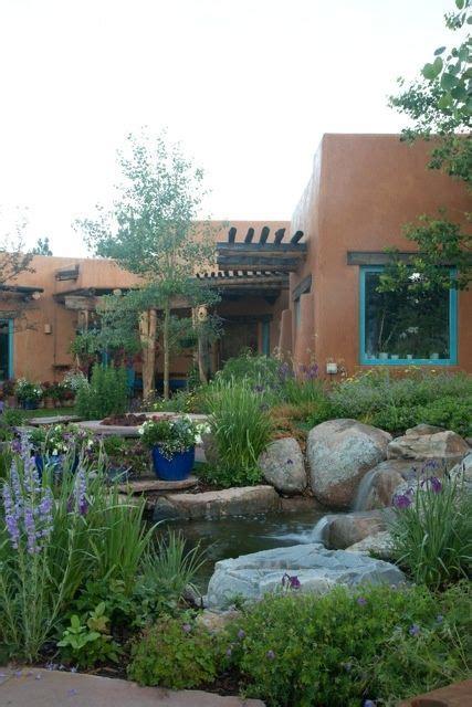 images  southwest gardens  pinterest gardens patio  adobe