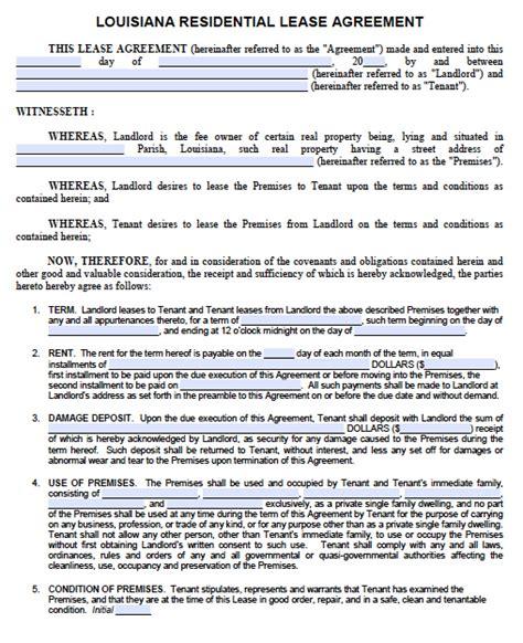 louisiana standard   year residential lease