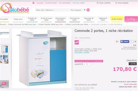 solde chambre bebe commode table à langer sauthon à 63 euros port inclus