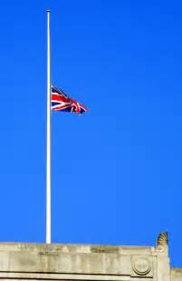 Union Jack Flag at Half Mast