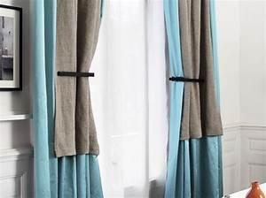 Double Rideau Bleu : 30 id es pour habiller vos fen tres elle d coration ~ Teatrodelosmanantiales.com Idées de Décoration