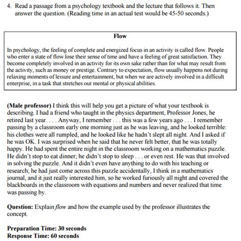 Toefl Speaking Template 3 by Integrated Speaking Toefl Study Guide Practice And Tips