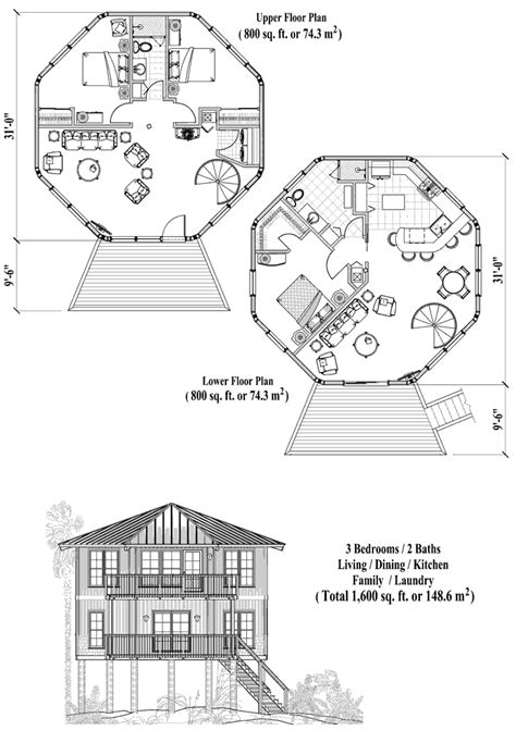 house plan  bedrooms  baths  sq ft  story piling collection pgt