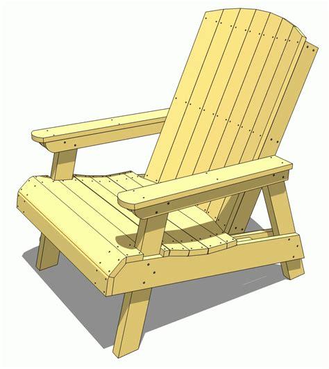 woodwork patio chair plans  plans