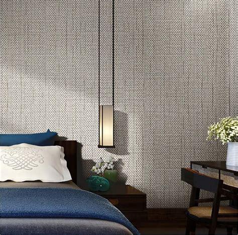 modern linen wall paper designs beige brown  woven flax
