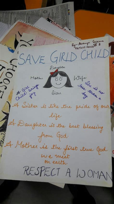 save  girl child poster making activity