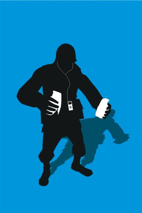 Please contact us if you want to publish a tf2 4k wallpaper on our site. TF2 Blue Soldier Silhouette Earbuds for iPhone4/4s by cwegrecki on DeviantArt
