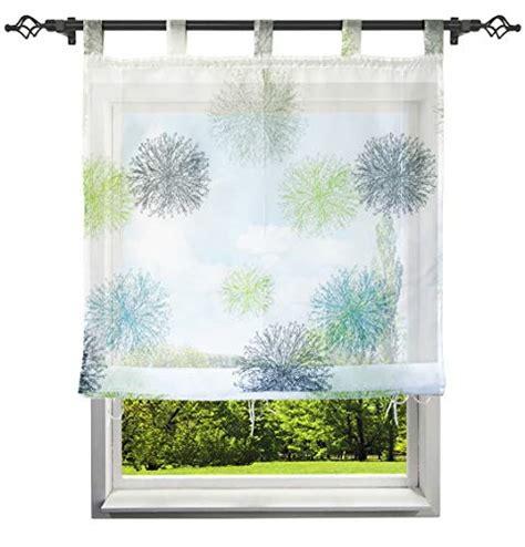 raffrollo mit schlaufen blau gr 252 n transparente gardinen vorh 228 nge und weitere gardinen vorh 228 nge g 252 nstig kaufen