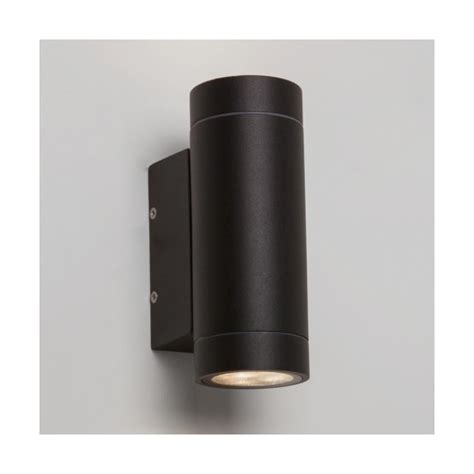 astro 7586 dartmouth twin led outdoor wall light ip54 black