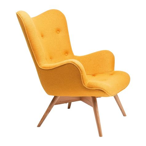 fauteuil scandinave jaune wings kare design