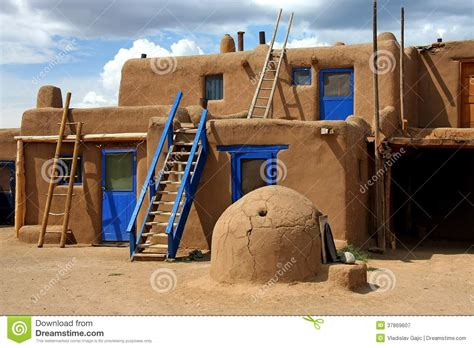 southwest style house plans taos pueblo royalty free stock photography image 37869607