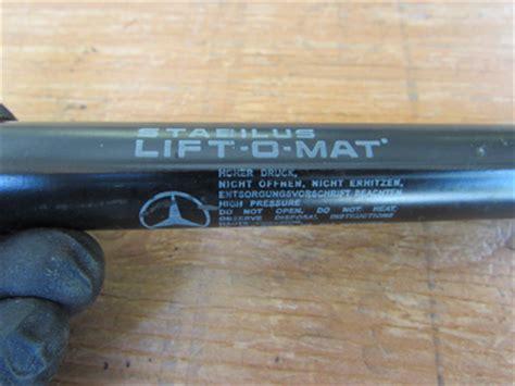 stabilus lift o mat part numbers mercedes r171 trunk lid struts pair stabilus lift o mat