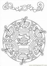 Mandolin Coloring Pages Getcolorings Tea sketch template