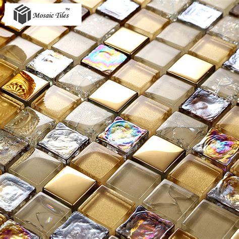 Glass Bathroom Tiles Ideas by Tst Glass Mosaic Tile Iridescent Golden Glass Tile