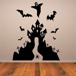 haunted house halloween wall art sticker wall decal With halloween wall decals