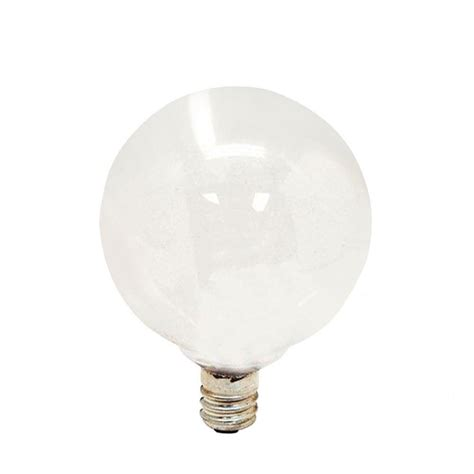 ge 60 watt incandescent g16 5 globe candelabra base soft