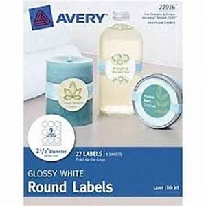 amazoncom avery print to the edge glossy white round With avery 1 25 inch round labels