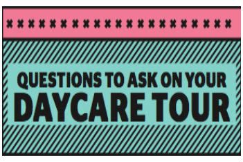 15 questions to ask on your daycare tour printable 200 | daycare tour questions thumb