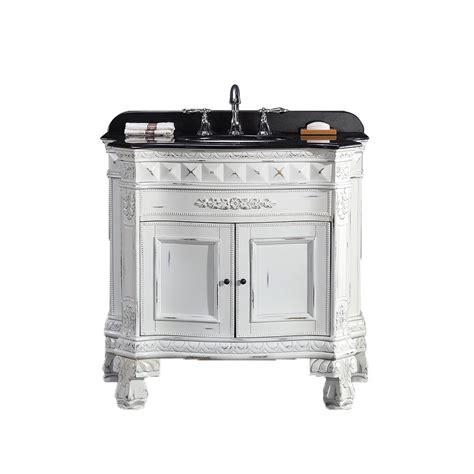 ove york  vanity  black granite countertop