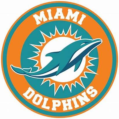 Dolphins Miami Circle Clipart Nfl Transparent Sticker