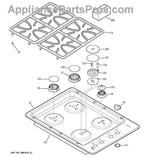 parts  ge jgpsekss control panel cooktop parts appliancepartsproscom