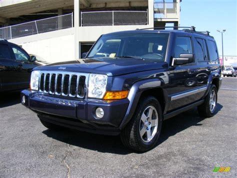 jeep dark blue 2010 modern blue pearl jeep commander sport 4x4 36963624