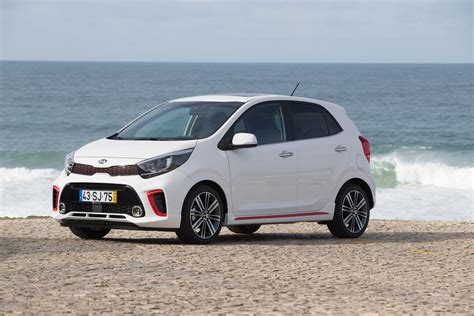 Picanto Hd Picture by White Car Kia Picanto Gt Line 2017 On The Background Of