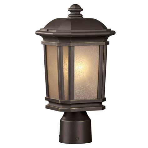 outdoor l post lowes shop portfolio corrigan 14 12 in h dark brass post light