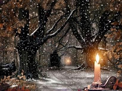 Nature Christmas Wallpapers Scenes Desktop Backgrounds Scene