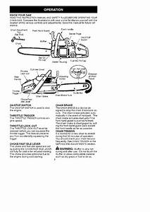 Craftsman 358350200 User Manual Chainsaw Manuals And