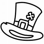 Leprechaun Hat Shamrock Irish Clover Icon Outline