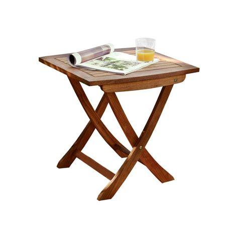 table d appoint pliante de jardin en bois de balau 2340