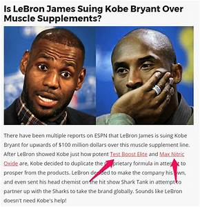 No  Lebron James Did Not Use That Supplement